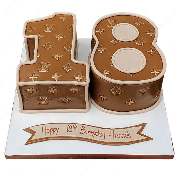 Louis Vuitton Number Age Cake