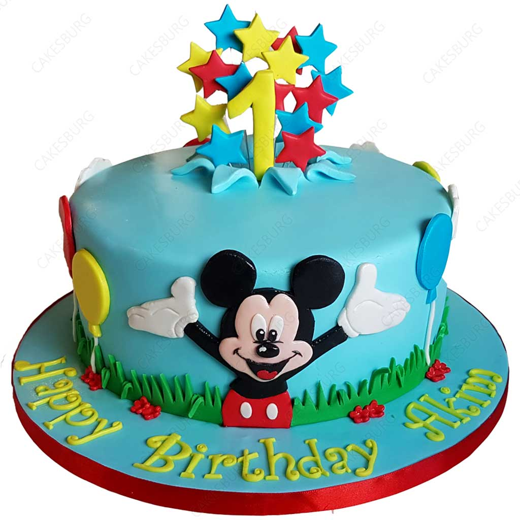 Pleasant Mickey Mouse Cake 1 Cakesburg Online Premium Cake Shop Funny Birthday Cards Online Fluifree Goldxyz