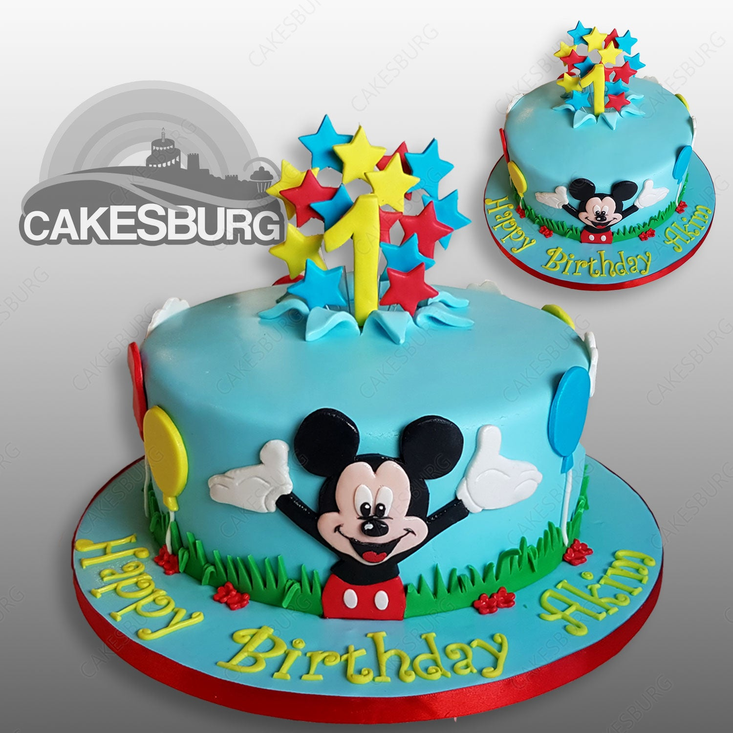 Astounding Mickey Mouse Cake 1 Cakesburg Online Premium Cake Shop Personalised Birthday Cards Bromeletsinfo