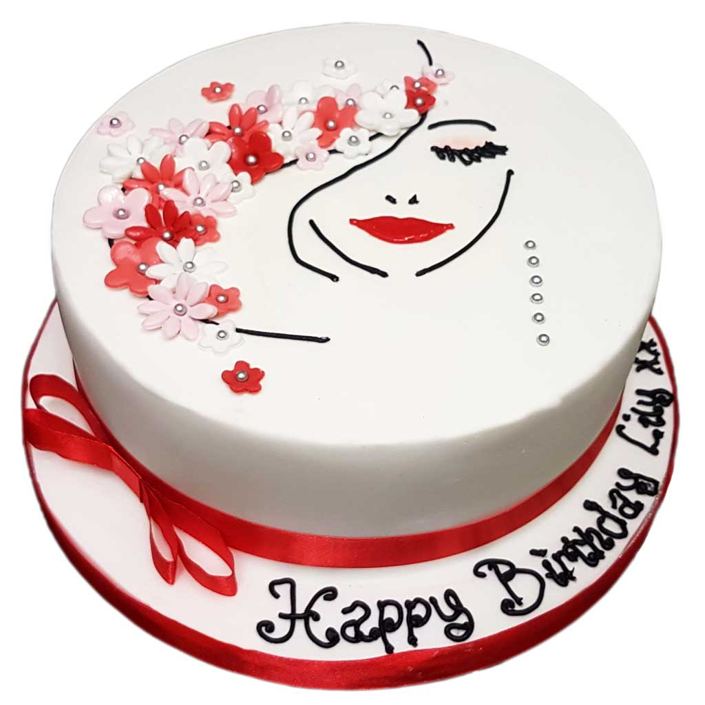 Terrific Pretty Woman Cake Cakesburg Online Premium Cake Shop Personalised Birthday Cards Rectzonderlifede