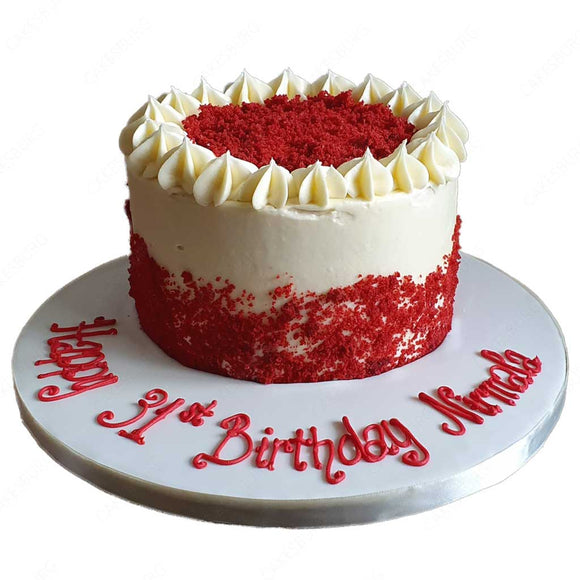 Red Velvet Buttercream Cake