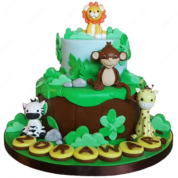 Safari Animals Cake #7