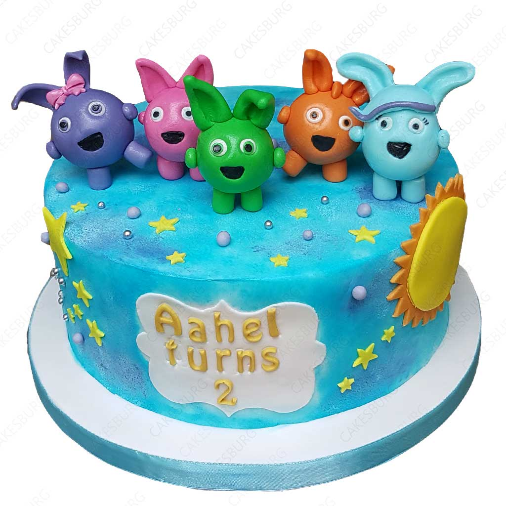 Terrific Sunny Bunnies Cake Cakesburg Online Premium Cake Shop Personalised Birthday Cards Paralily Jamesorg