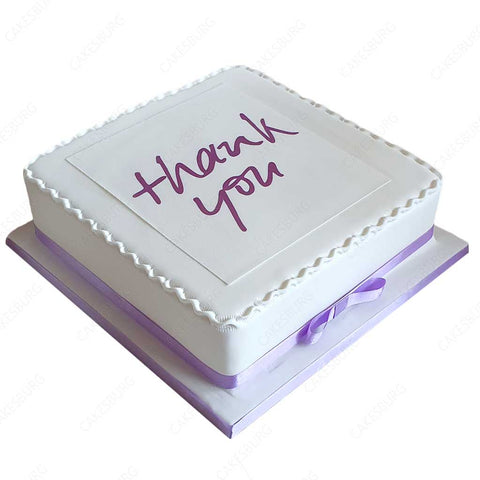 Thank You Message Cake