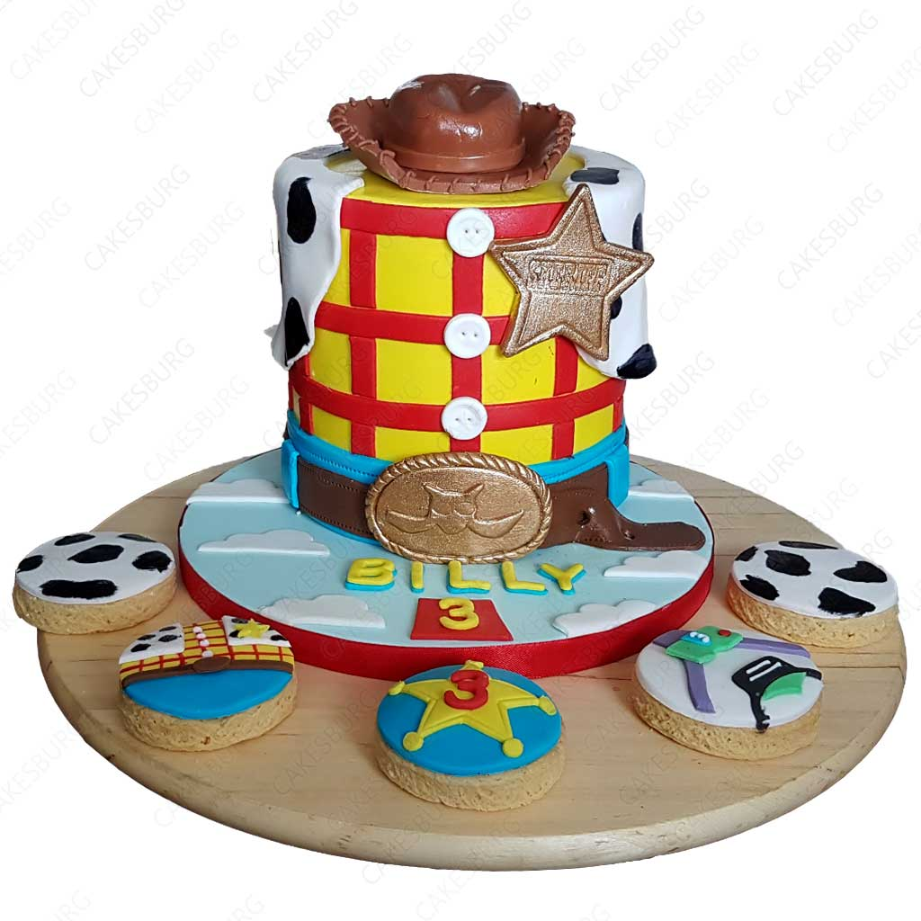 Tremendous Toy Story Cake With 12 Cupcakes Cakesburg Online Premium Cake Shop Funny Birthday Cards Online Drosicarndamsfinfo