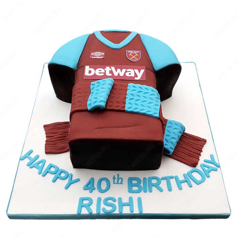 Football Uniform Cake #5