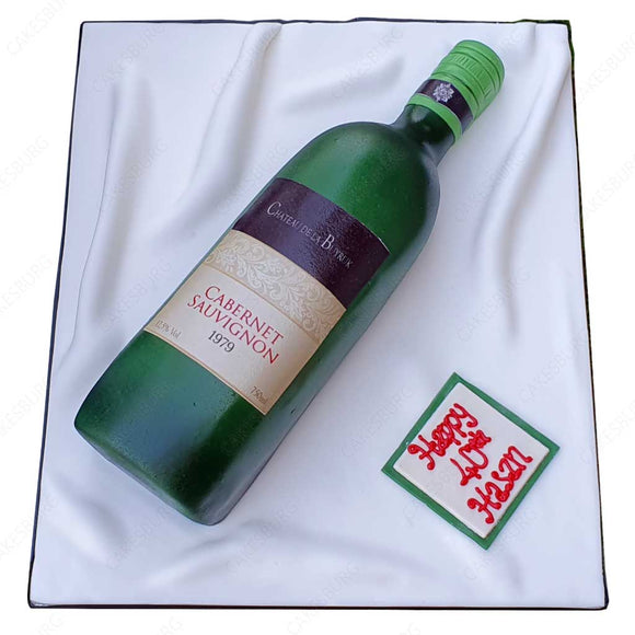 Cabernet Sauvignon Wine Bottle Cake