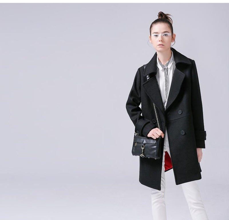 Long Trench Thicken Slim Coat