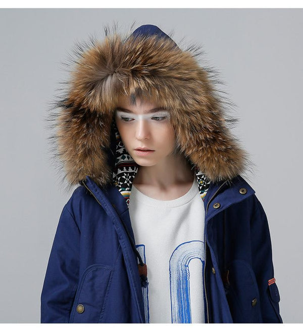 Fur Hooded Snow Parka