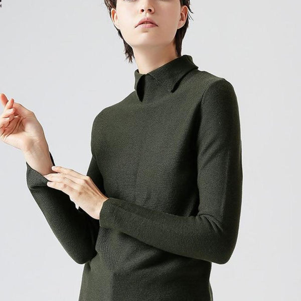 Elegant Polo Slim Sweater