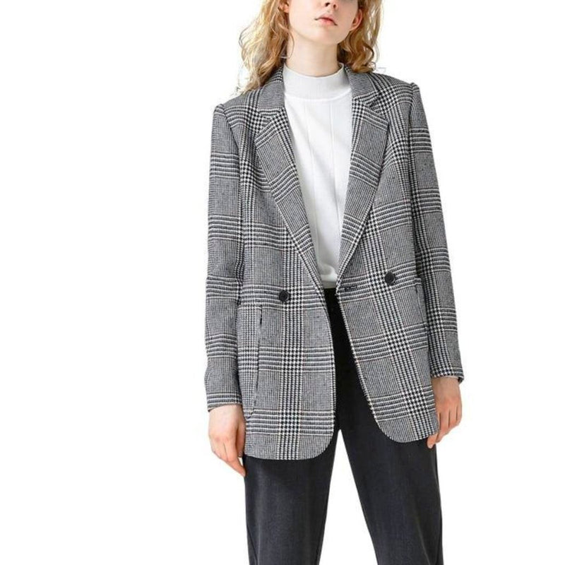 Plaid Pattern All Match Blazer