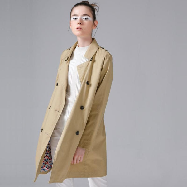 British Style Long Trench Coat