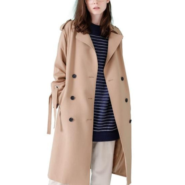 Belt-Waist Cool Trench Coat