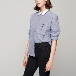 Embroidery Loose Shirts