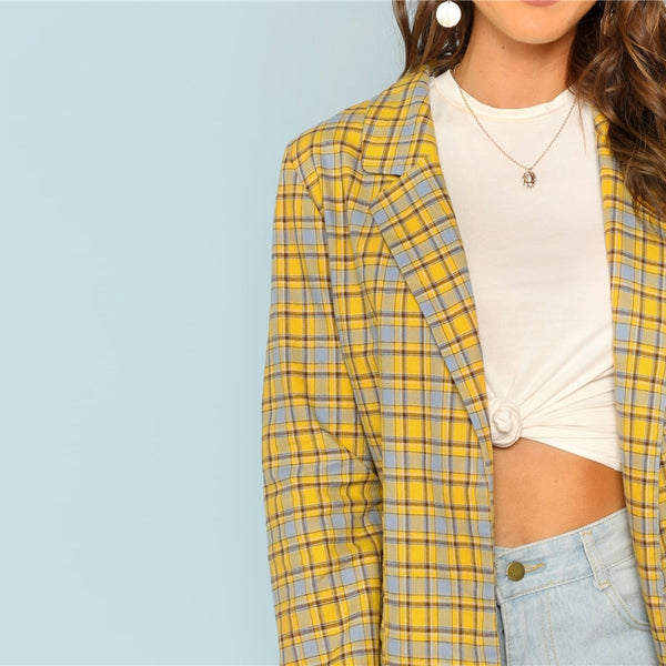 Plaid Longline Highstreet Blazer