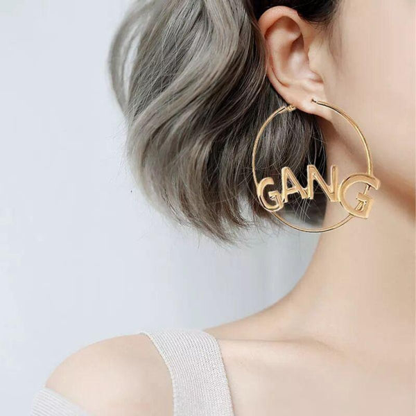 Letter Earrings GIRL GANG