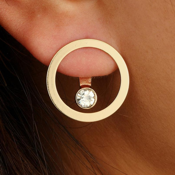 Circle Word Earring