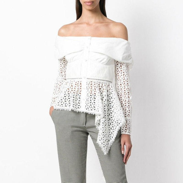 Slash Off Shoulder Asymmetric Top