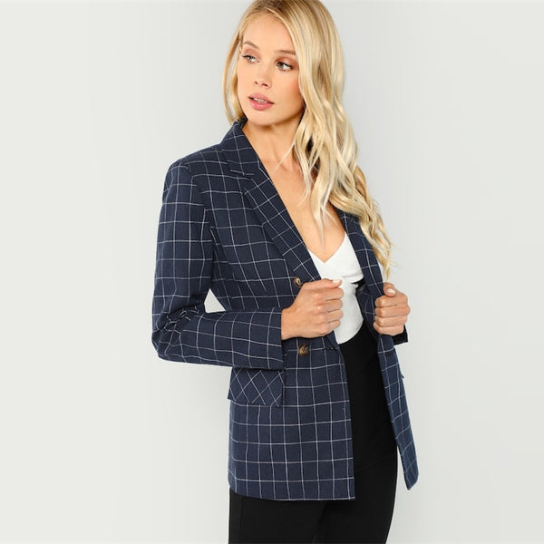 Office Lady Notched  Blazer