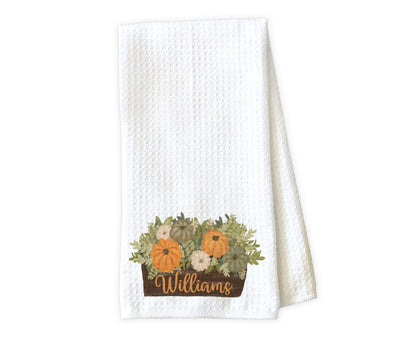 Fall Arrangement Personalized Waffle Weave Microfiber Kitchen Towel