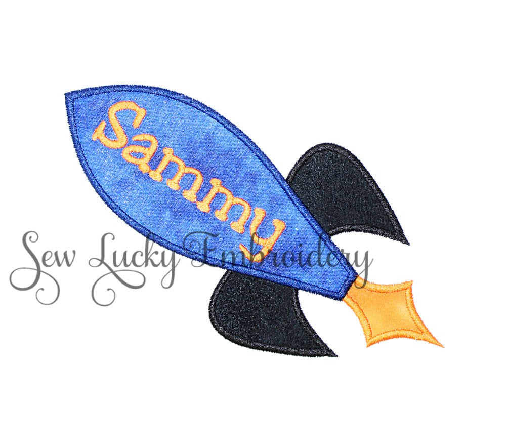 Rocket Ship Personalized Patch