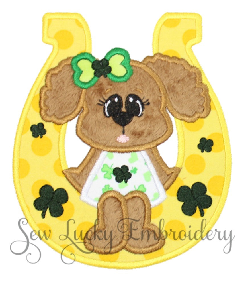 Shamrock Girl Bear Patch