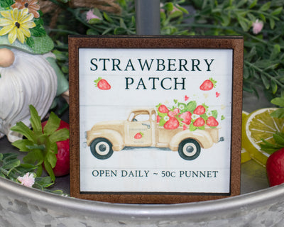 Strawberry Patch Truck Tier Tray Sign