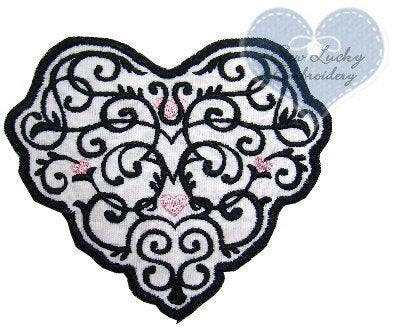 Wrought Iron Heart Patch