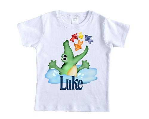 Alligator Jumping Personalized Shirt - Sew Lucky Embroidery