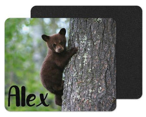 Baby Bear in Tree Custom Personalized Mouse Pad - Sew Lucky Embroidery