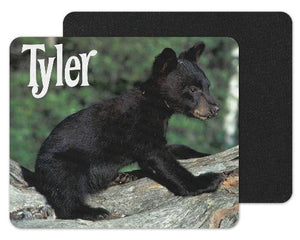 Baby Black Bear Custom Personalized Mouse Pad - Sew Lucky Embroidery