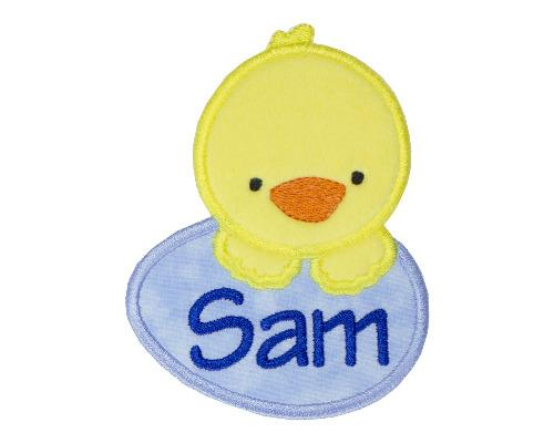 Baby Boy Easter Chick Personalized Patch - Sew Lucky Embroidery