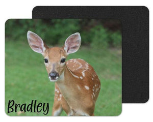 Baby Deer Custom Personalized Mouse Pad - Sew Lucky Embroidery
