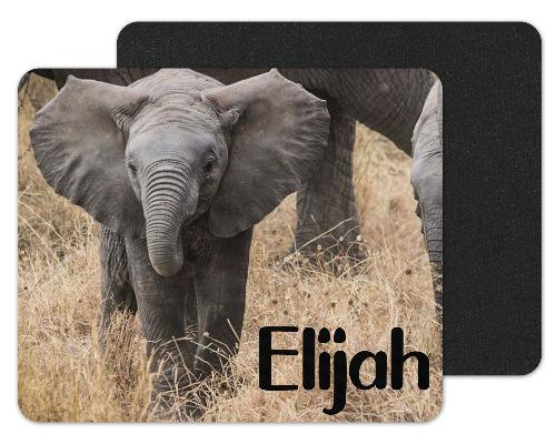Baby Elephant Custom Personalized Mouse Pad - Sew Lucky Embroidery
