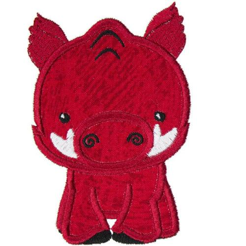 Baby Hog Football Boy Patch - Sew Lucky Embroidery
