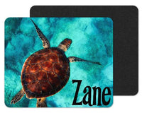 Baby Sea Turtle Custom Personalized Mouse Pad - Sew Lucky Embroidery