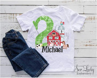 Barn Custom Birthday Personalized Shirt - Sew Lucky Embroidery