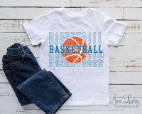 Basketballs Stacked Printed Shirt