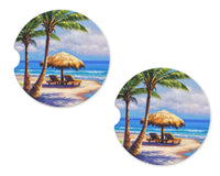Beach Sandstone Car Coasters