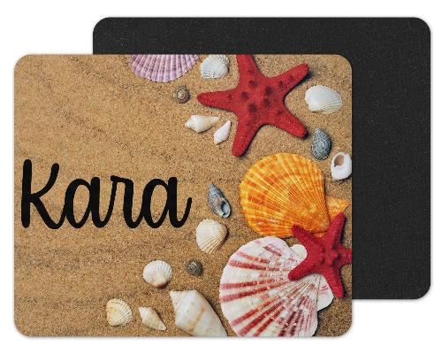 Beach with Shells Custom Personalized Mouse Pad