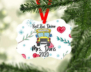 Best Bus Driver Personalized Ornament