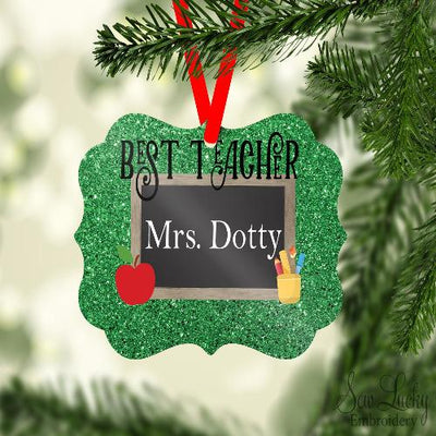 Best Teacher Benelux Ornament Personalized