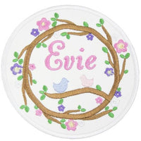 bird nest personalized patch