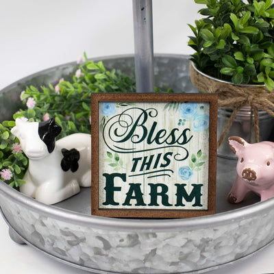 Bless this Farm Tier Tray Sign