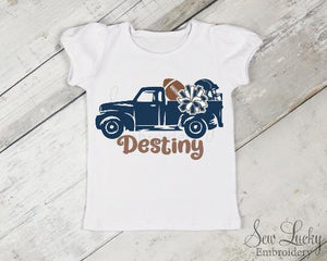 Blue Truck Football Personalized Printed Shirt