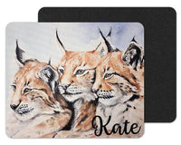 Bobcat Trio Custom Personalized Mouse Pad