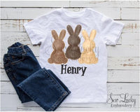 Boy Bunny Trio Personalized Printed Shirt