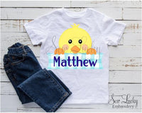 Boy Easter Chick Personalized Printed Shirt