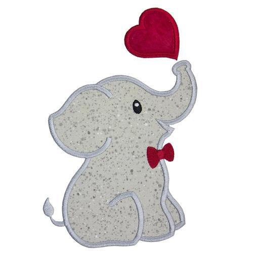 Boy Elephant Patch - Sew Lucky Embroidery