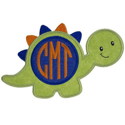 Boy Monogrammed Dinosaur Patch
